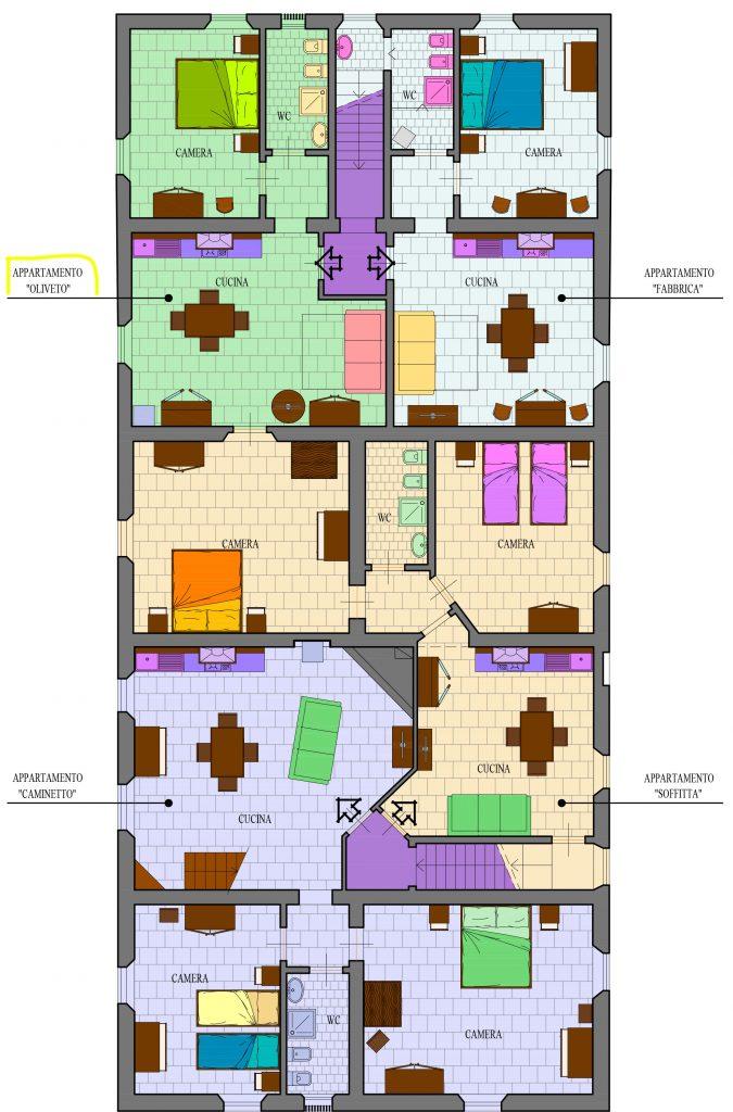 Oliveto Mappa